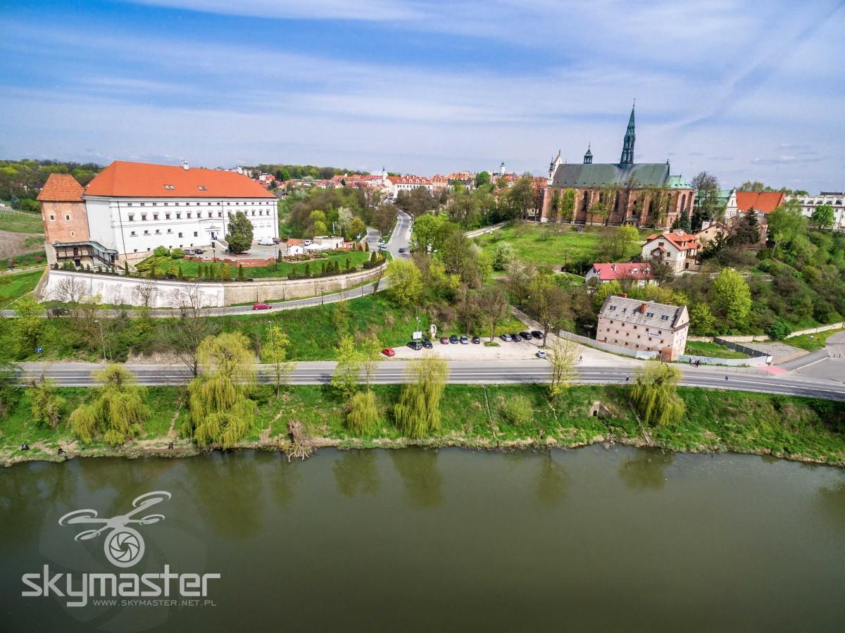 Zamek Katedra Sandomierz zdjęcia z drona