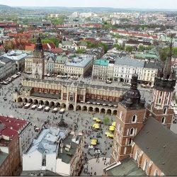 Kraków filmy z drona